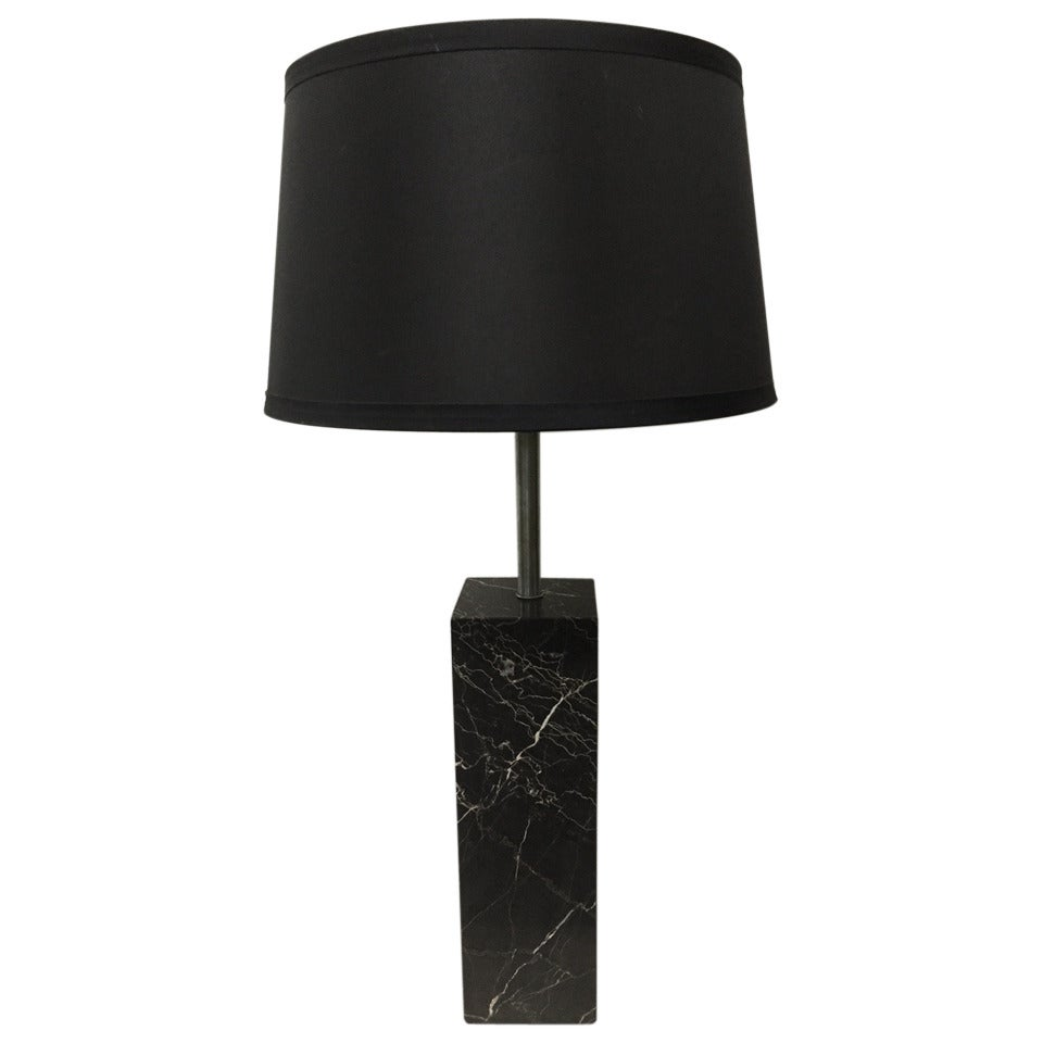 Italian Marble Table Lamp after Robsjohn-Gibbings