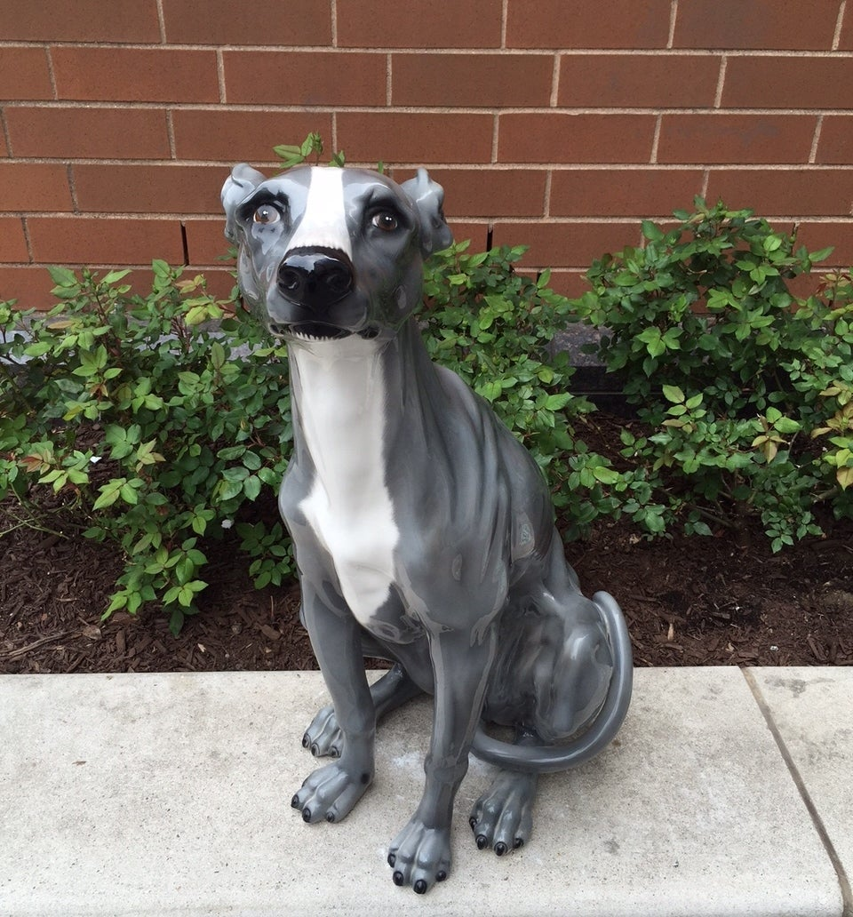 Italian ceramic dog sculpture for sale at 1stdibs