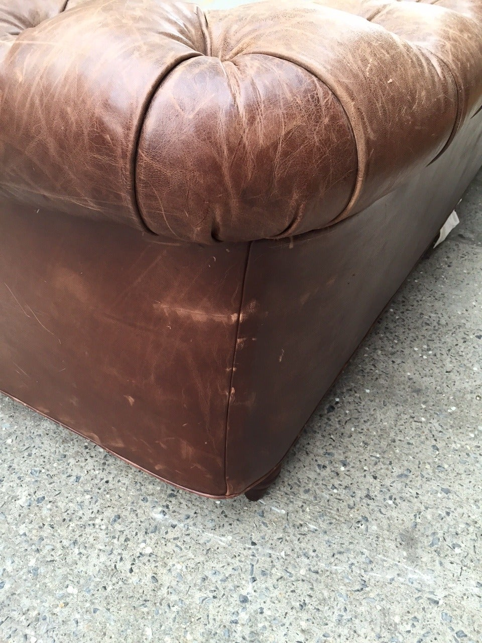 Vintage Leather Chesterfield Sofa 7