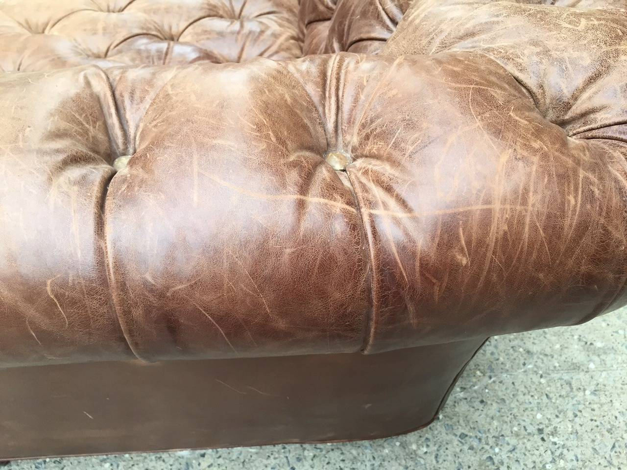 Vintage Leather Chesterfield Sofa 5