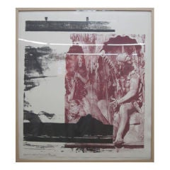 "Robert Rauschenberg ""Dallas Cares"" Lithograph Limited Edition"