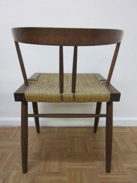 George Nakashima Chairs pair george nakashima grass seat chairs for sale at 1stdibs