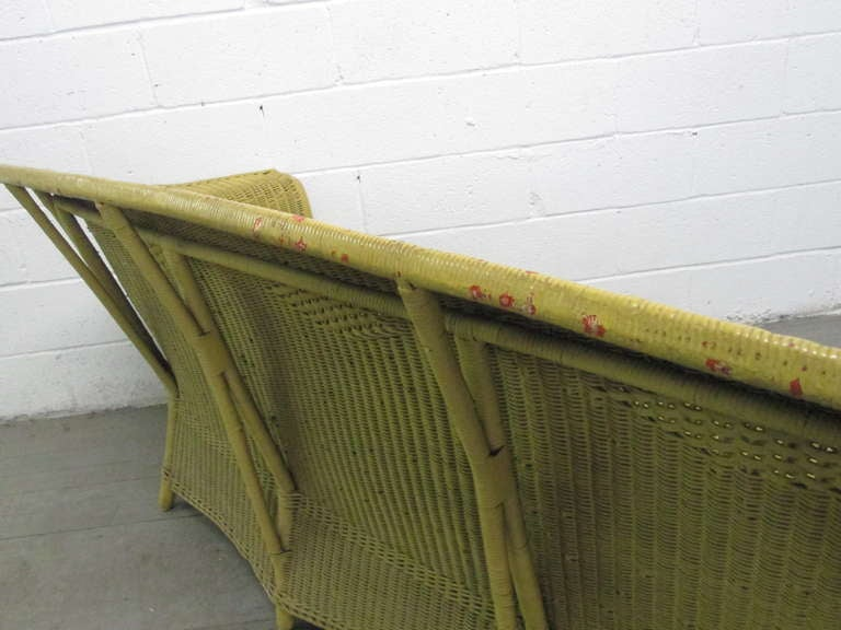 Victorian Wicker Sofa Style Of Lloyd Loom At 1stdibs