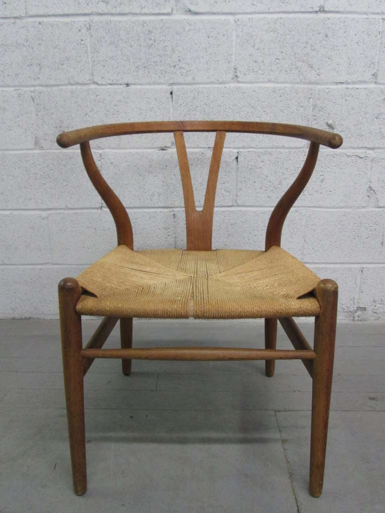 6 Wishbone Hans Wegner Y Chairs For Sale at 1stdibs