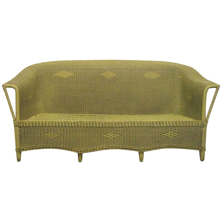 victorian wicker sofa style of lloyd loom for sale at 1stdibs. Black Bedroom Furniture Sets. Home Design Ideas