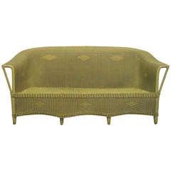 Victorian Wicker Sofa Style of Lloyd Loom