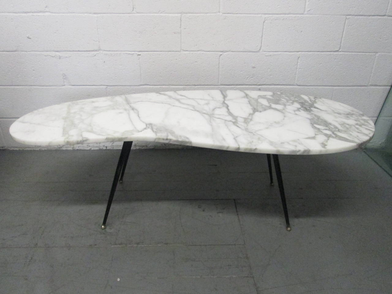 Italian Marble And Iron Coffee Table For Sale At 1stdibs
