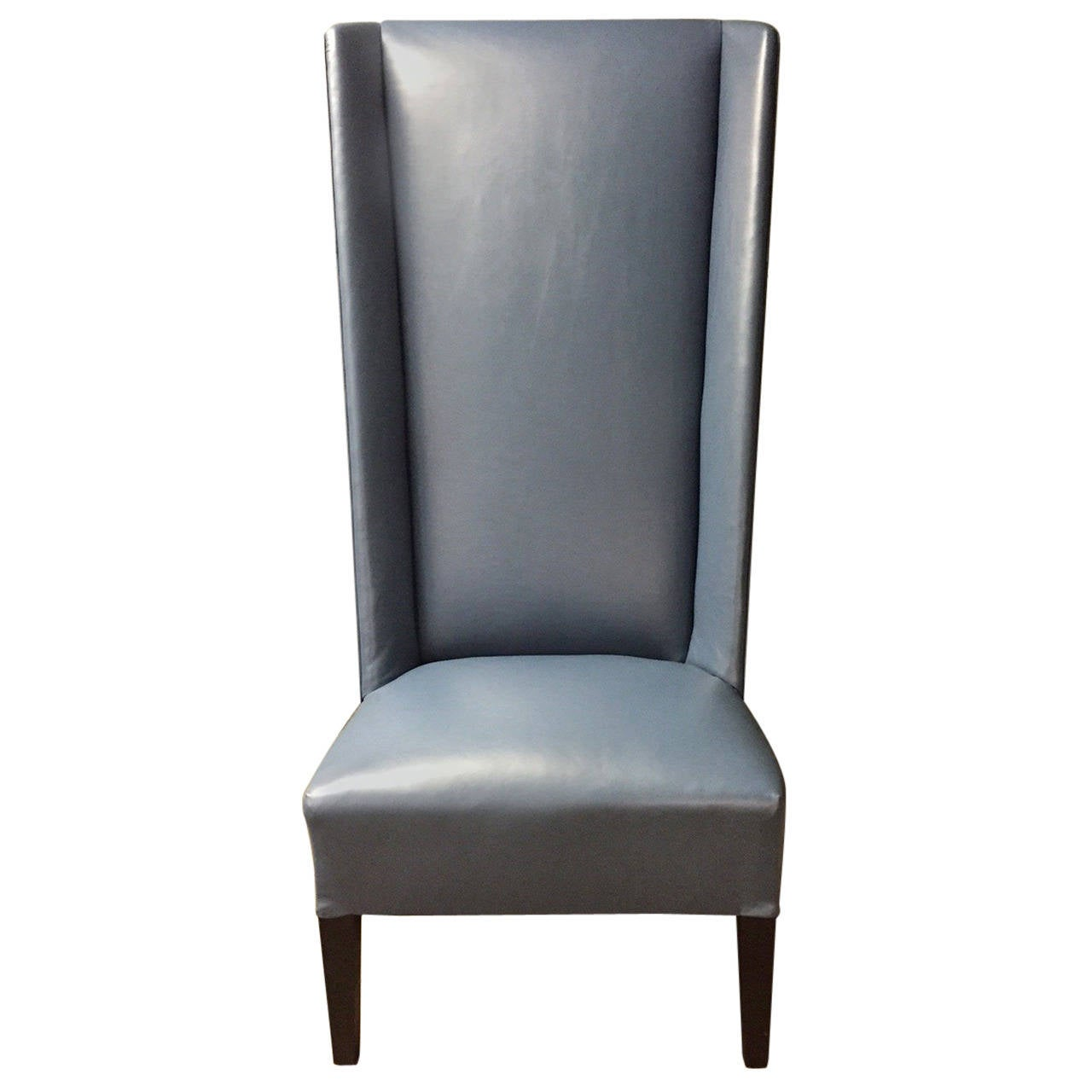 Italian Leather High Back Chair For Sale At 1stdibs