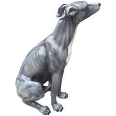 Italian Ceramic Dog Sculpture