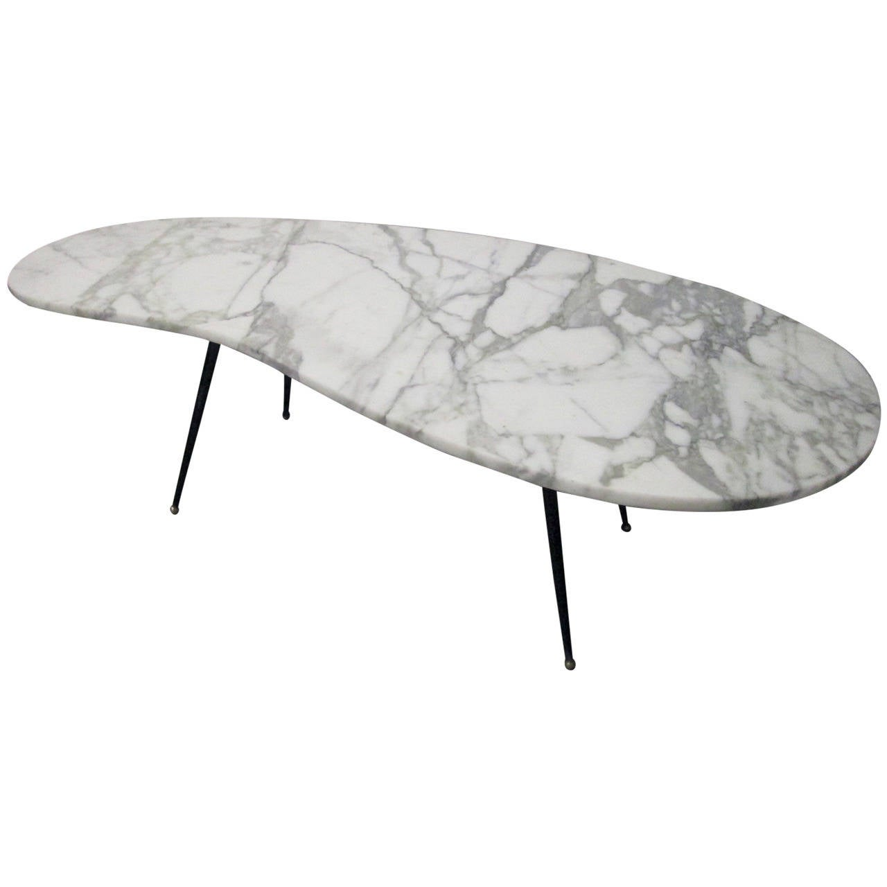 Italian Marble and Iron Coffee Table