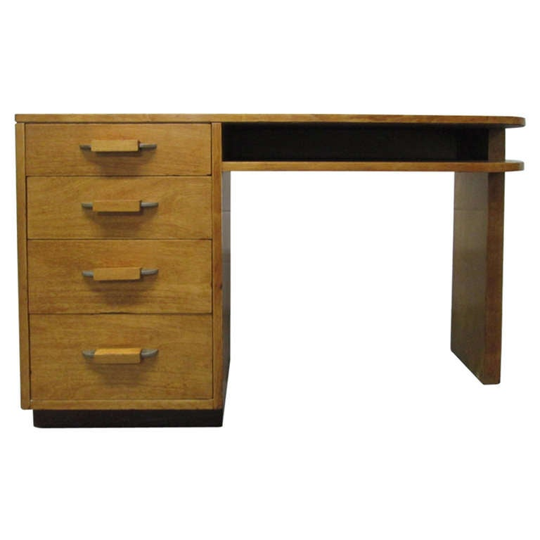 Streamline Desk In Birch By Eliel Saarinen For Johnson