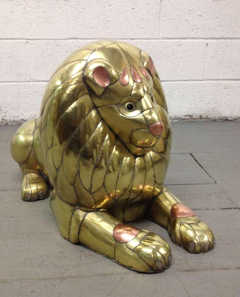 Mexican Sergio Bustamante Lion Sculpture For Sale