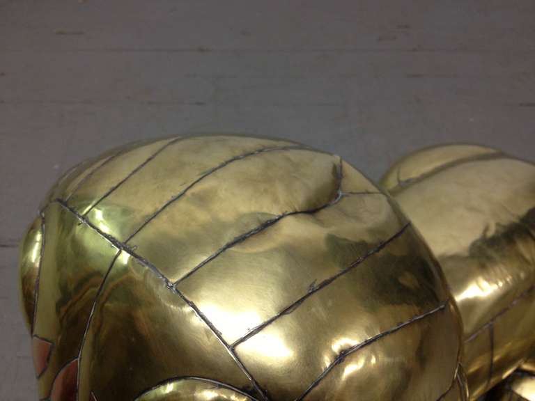 Brass Sergio Bustamante Lion Sculpture For Sale