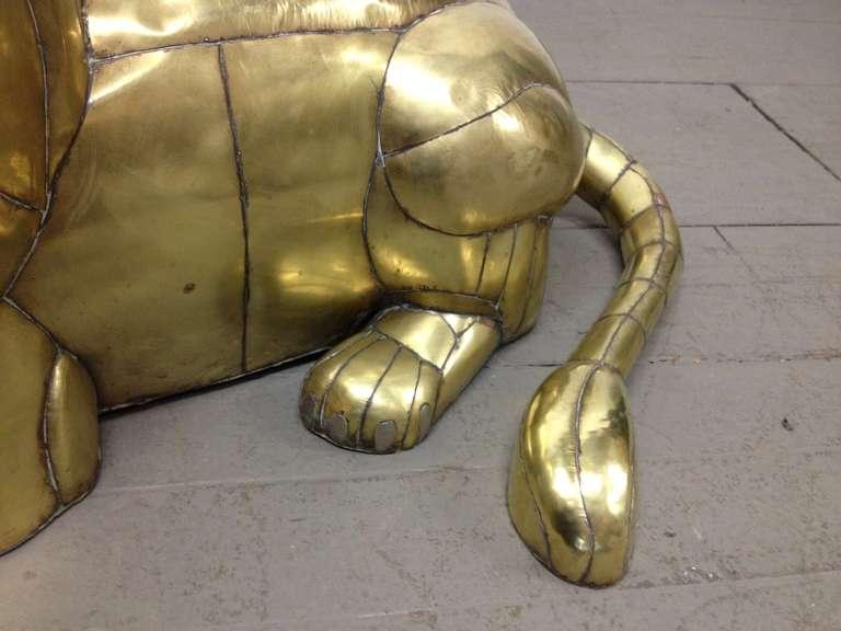 Late 20th Century Sergio Bustamante Lion Sculpture For Sale