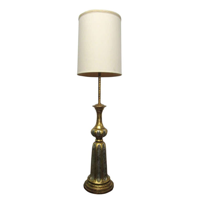 James Mont Tall Gilded Lamp At 1stdibs