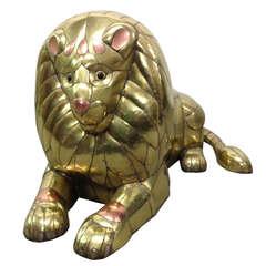 Sergio Bustamante Lion Sculpture