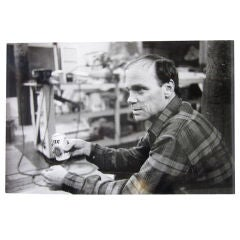 Silver Gelatin Print of Michael Heizer; Ari Marcopoulos Photogra