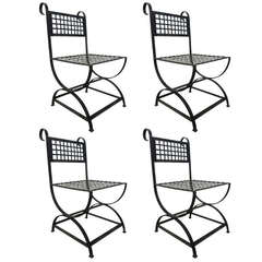 Four French Wrought Iron Chairs