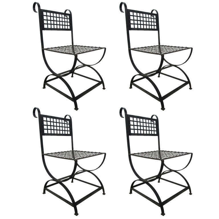 French wrought-iron chairs, 1960s