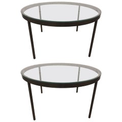 Pair of Bronzed Steel Coffee Tables Nicos Zographos