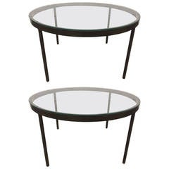 Pair Bronzed Steel Coffee Table Tables Nicos Zographos