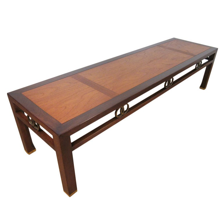 Far east michael taylor for baker furniture coffee table at 1stdibs Baker coffee table