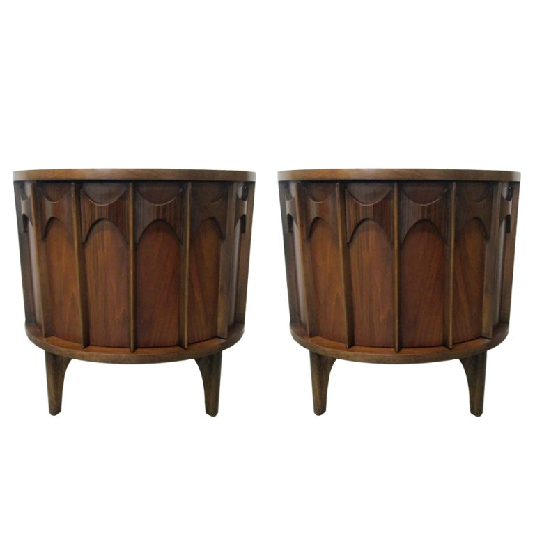 Pair kent coffey nightstands end tables at stdibs