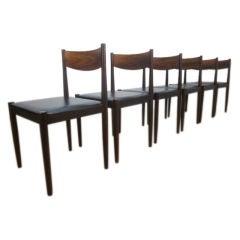 Set of 6 Frem Rojle Rosewood Danish Chairs