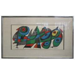 "Joan Miro Lithograph Titled ""Miro Sculptor Japan,"" Signed and Numbered"