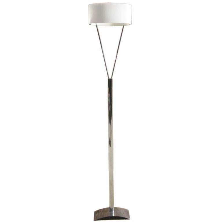 Murano and Chrome Floor Lamp by Leucos