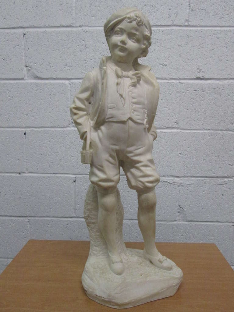 French soapstone sculpture of a boy at stdibs