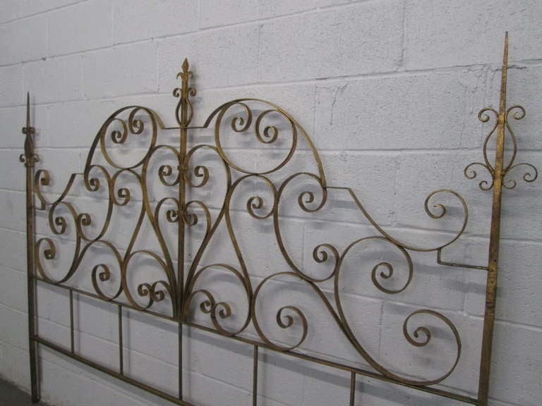 gold metal headboard  rickevans homes, Headboard designs