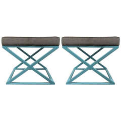 Pair of X-Benches