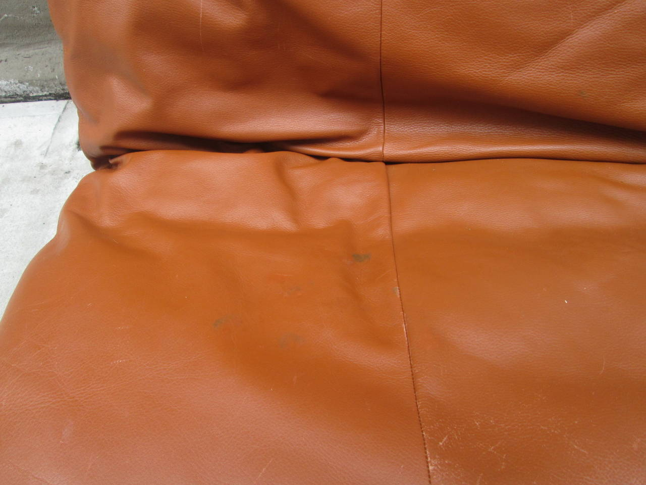 Swiss Leather Convertible Sofa by De Sede
