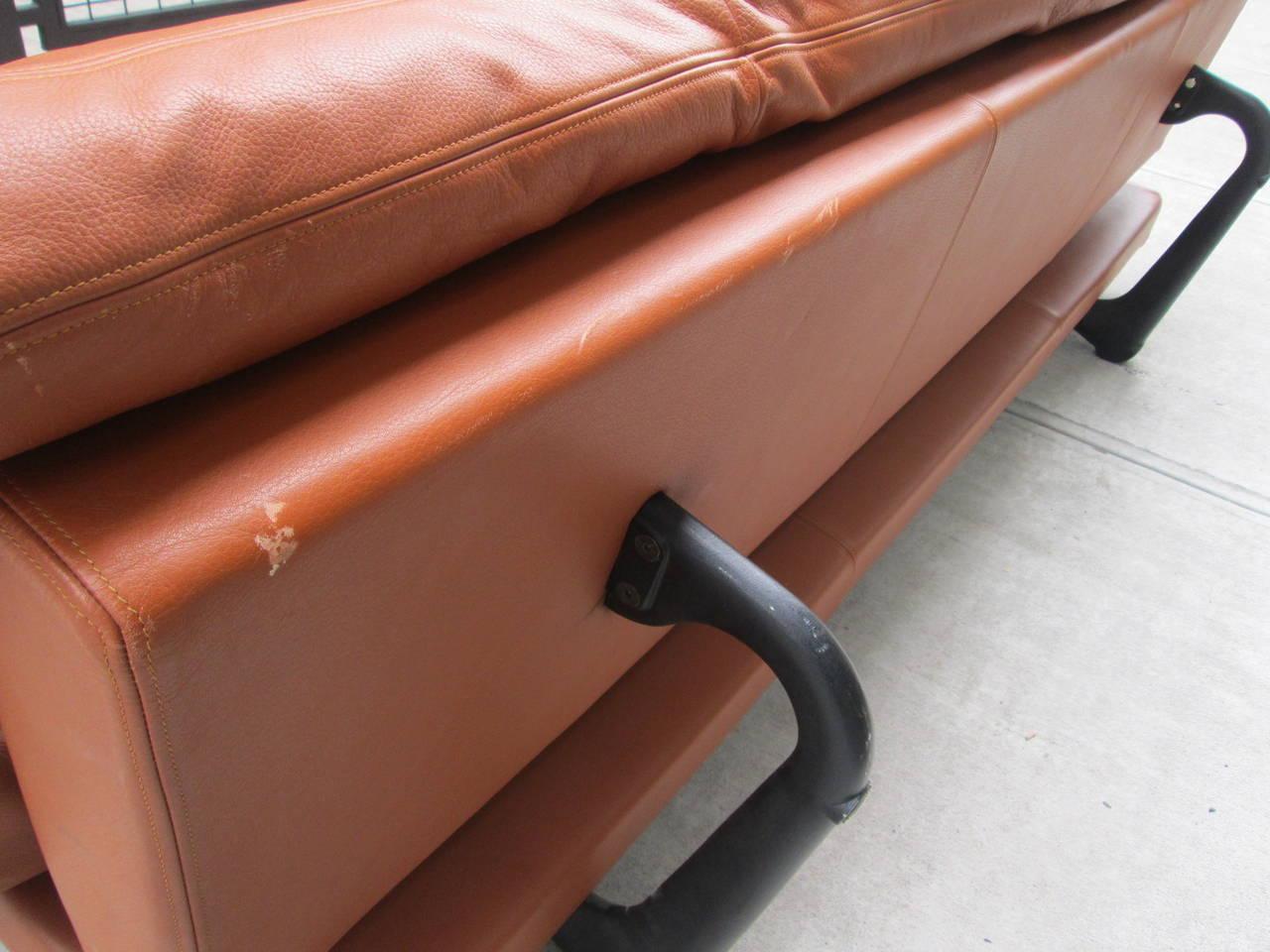Leather Convertible Sofa by De Sede 1