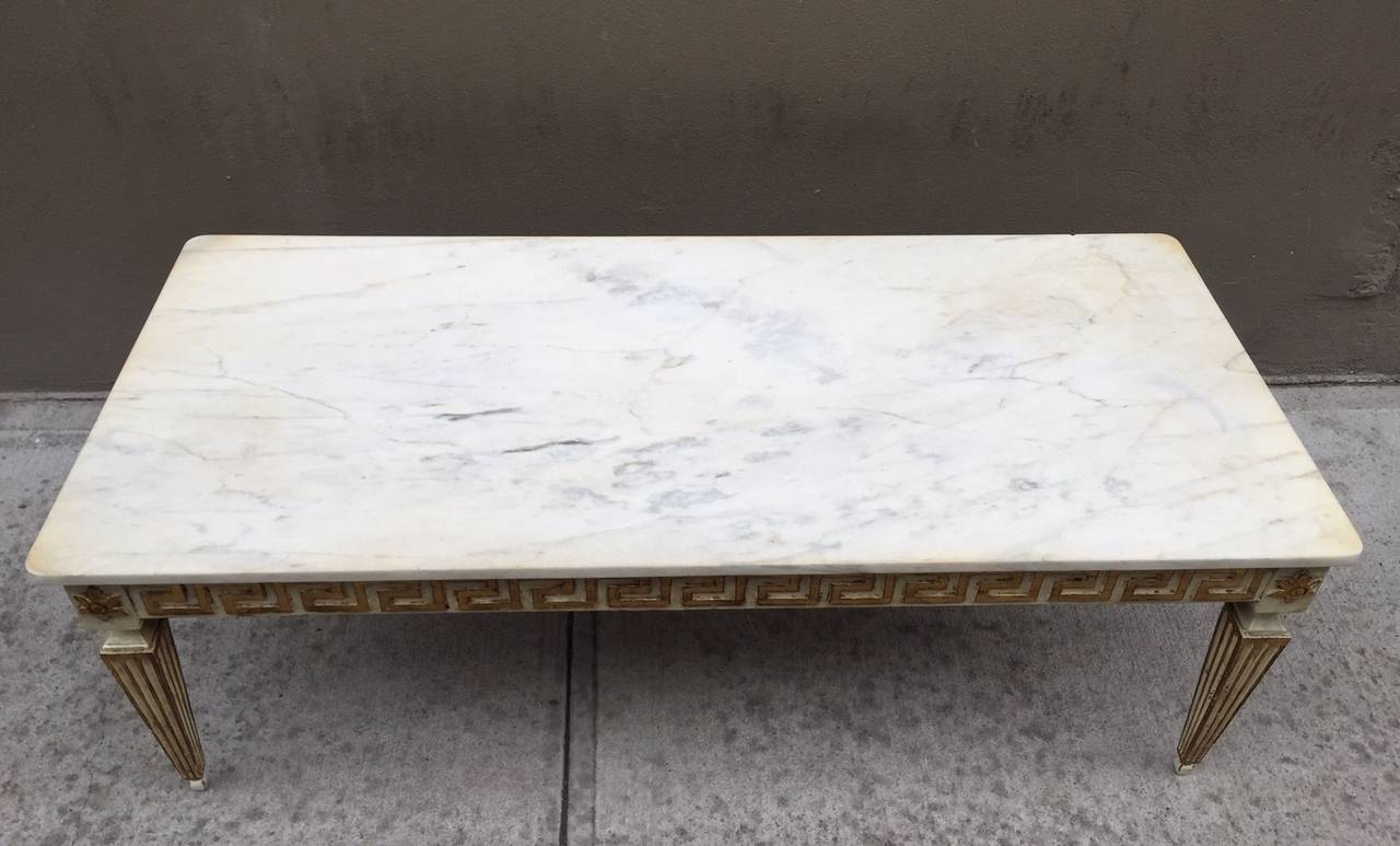 antique italian neoclassical style marble top coffee table for sale at 1stdibs. Black Bedroom Furniture Sets. Home Design Ideas