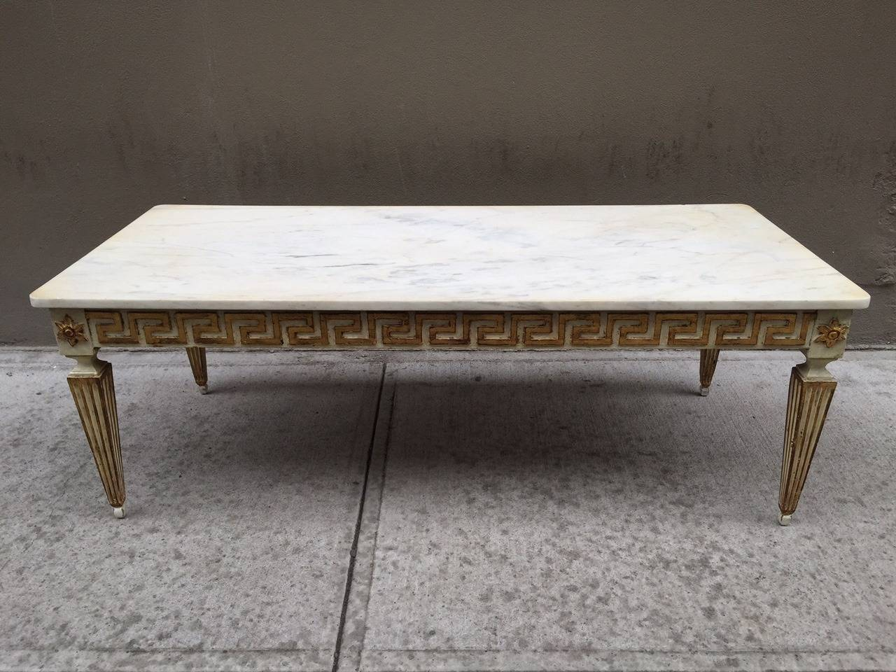 Antique Italian Neoclassical Style Marble Top Coffee Table For Sale At 1stdibs