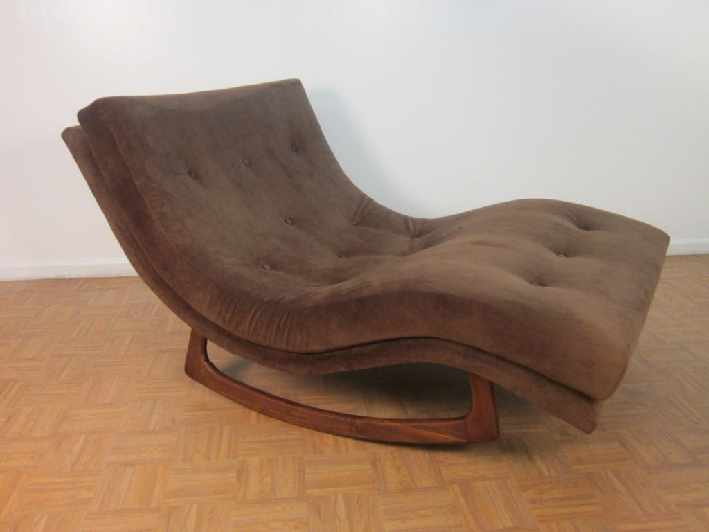 Sculptural adrian pearsall double wide rocking chaise at for Chaise longue double exterieur