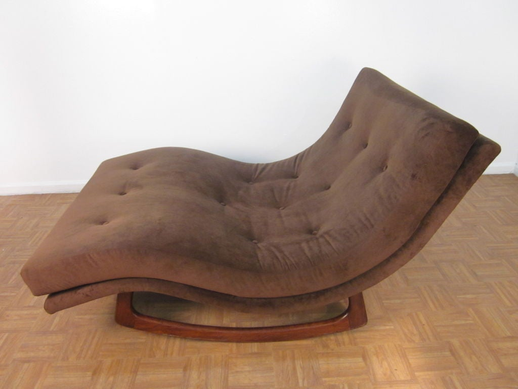 Sculptural Adrian Pearsall Double Wide Rocking Chaise At