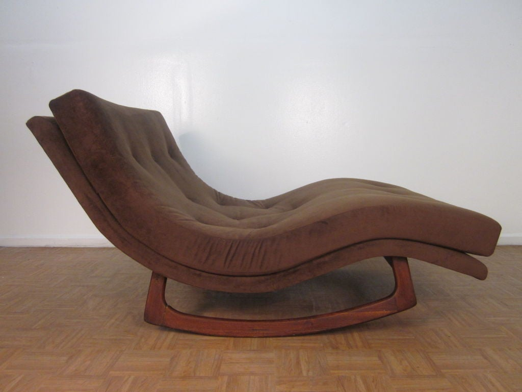 Sculptural Adrian Pearsall Double Wide Rocking Chaise In Good Condition For Sale In New York, NY