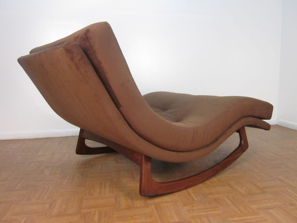 Sculptural adrian pearsall double wide rocking chaise for for Adrian pearsall rocking chaise