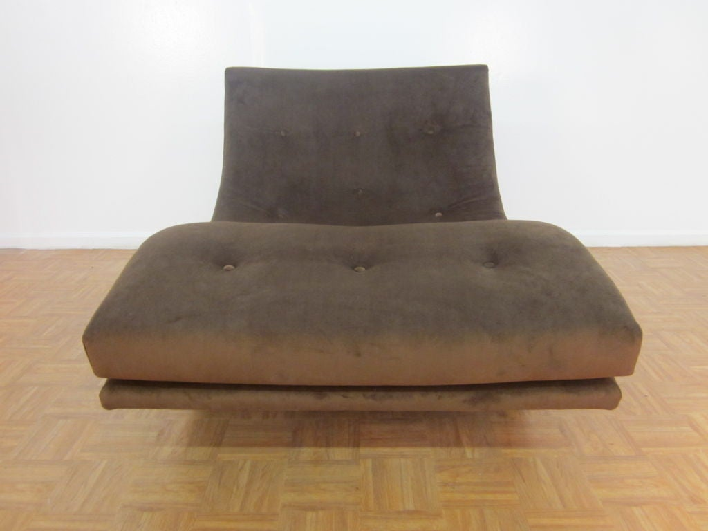 Ultrasuede Sculptural Adrian Pearsall Double Wide Rocking Chaise For Sale