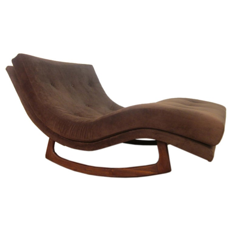 Sculptural adrian pearsall double wide rocking chaise for for Chaise longue double en bois