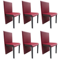 Six Leather Dining Chairs by Poltrona Frau
