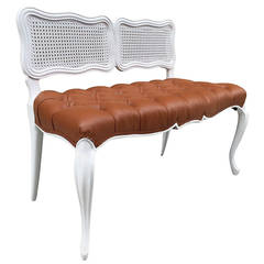French Style Tufted Bench
