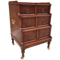 English Campaign Three-Drawer Chest