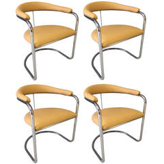 Four Anton Lorenz Chairs for Thonet
