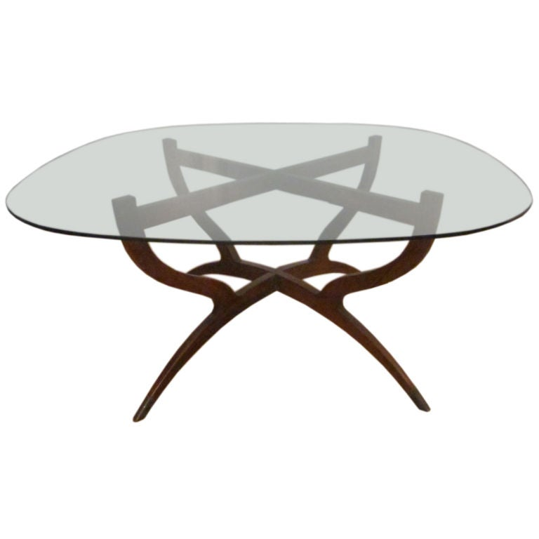 Rosewood Spider Coffee Table At 1stdibs