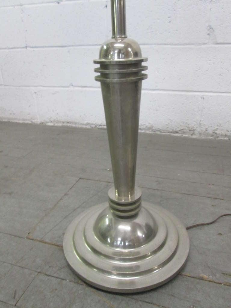 Art Deco Streamline Floor Lamp For Sale At 1stdibs