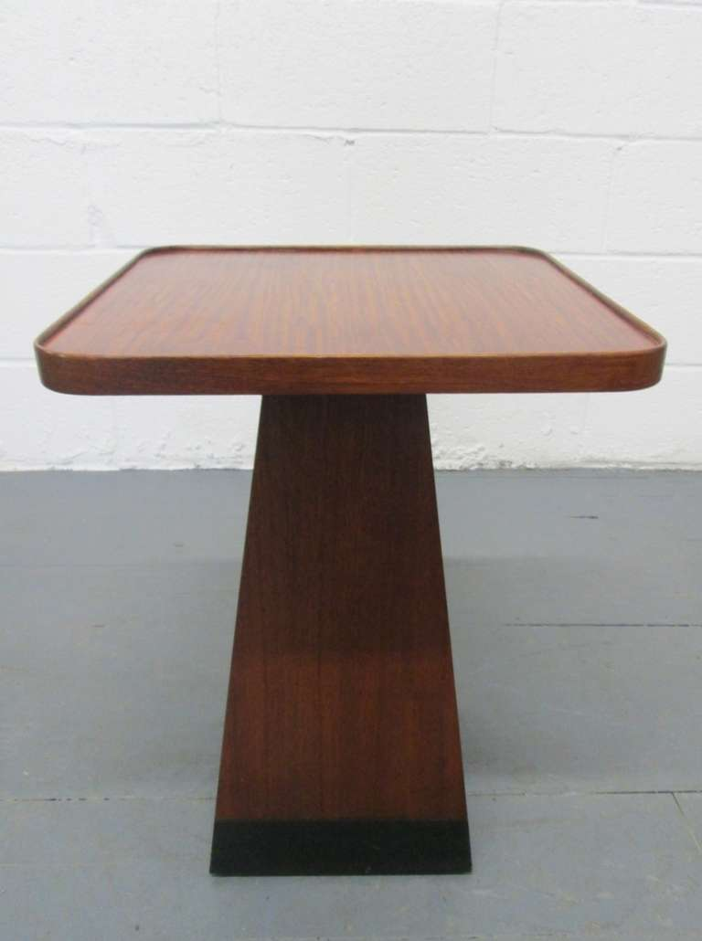 mid century modern pedestal table for sale at stdibs - mid century modern pedestal table